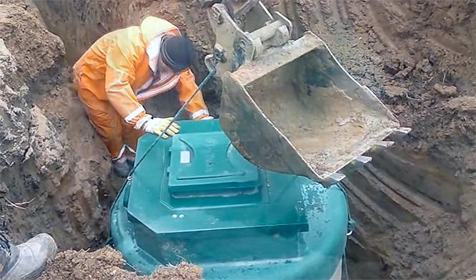 установка септика в яму